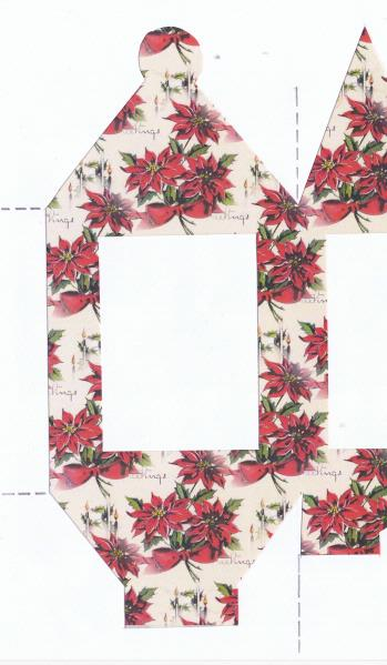 .Christmas Lanterns 02 - Poinsettia Set 02 - 6 Sizes to Download
