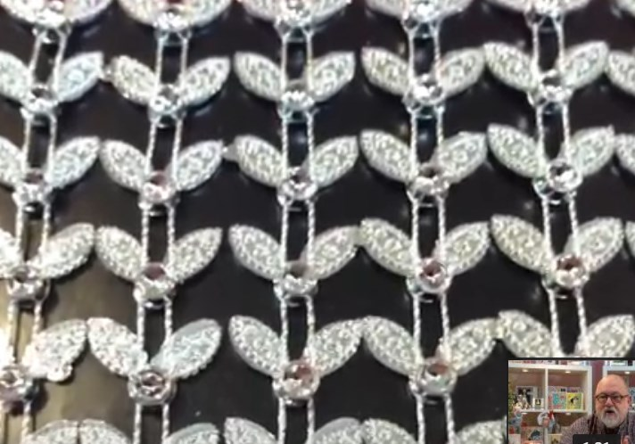 <b>BACK IN STOCK - SPECIAL PURCHASE Set 1</B> 10 Metres of Diamante Effect Trim