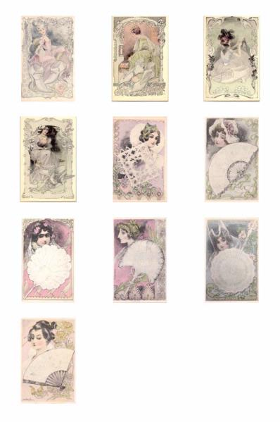 Art Nouveau Ladies ALL 10 SETS - 210 Pages to Download