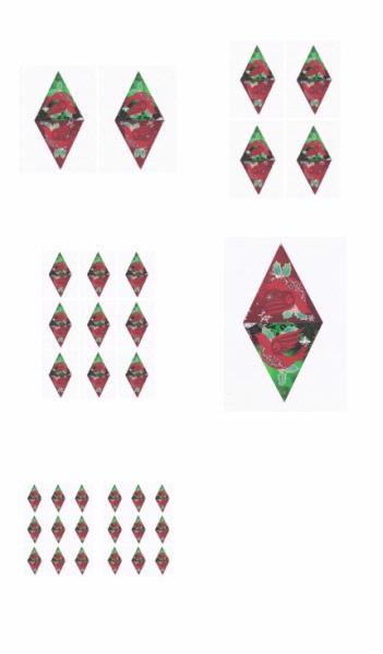 Christmas Bunting Dove Set - 5 x A4 Pages to Download