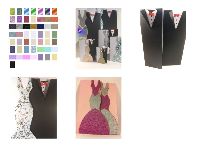 Wedding Card Set - Includes Templates and Backing Papers