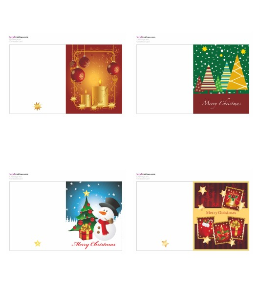 Festive Cards - <B>ALL 4 SETS</B> 44 Pages to Download