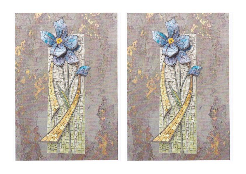 GET CREATIVE FREE DOWNLOAD 23 JUNE 2018 - <b>Mosaic Flower Card</b>