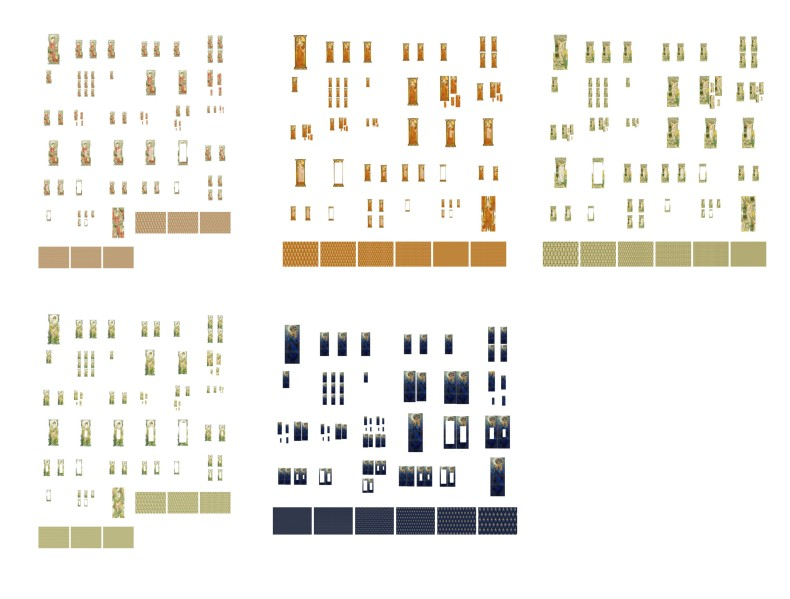 Long Lady Panels <b>ALL 5 SETS</B> 186 Sheets to Download