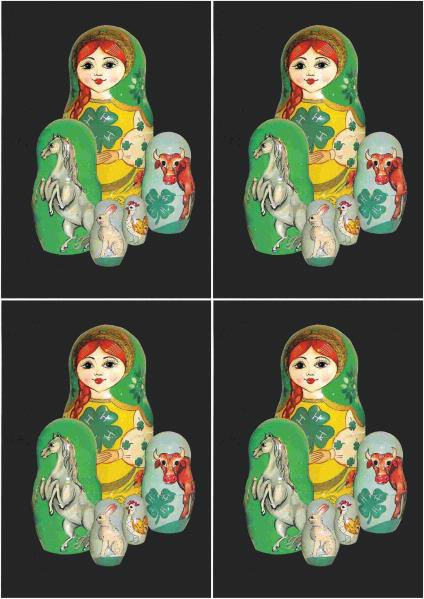 Russian Nesting Dolls A6 Toppers - 13 Pages to DOWNLOAD