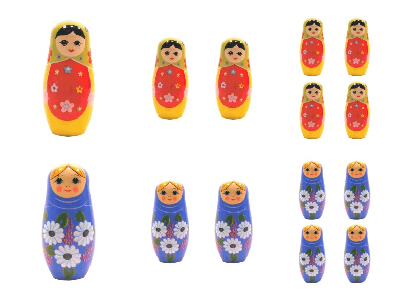 GET CREATIVE FREE DOWNLOAD 24/03/18 - Russian Large Babushka Dolls - 6 x A4 Pages to DOWNLOAD