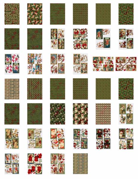 Bumper Santa Sets 1 & 2 - 40 Sheets to DOWNLOAD