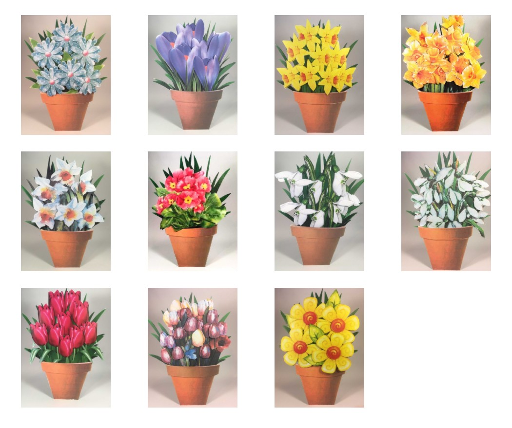 Spring Flowers Range ALL 11 Sets - 275 Pages to Download