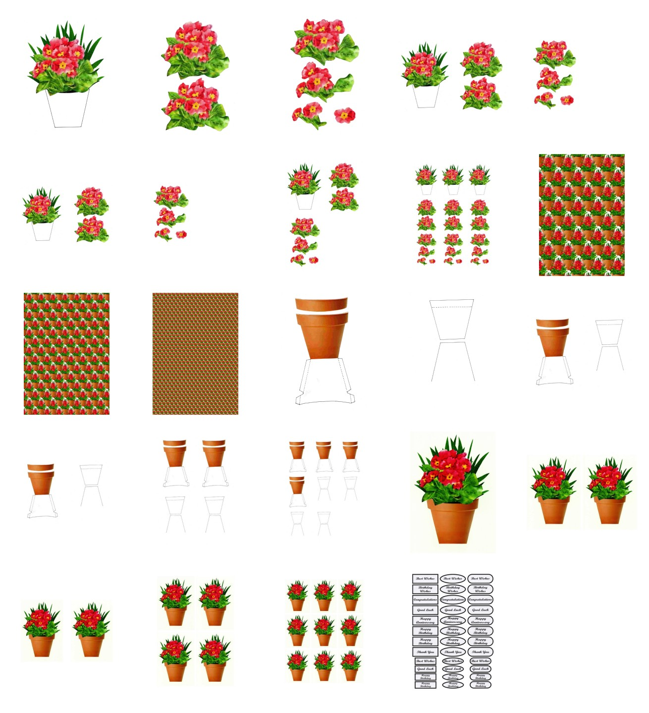 Spring Polyanthus Flowers - 25 Pages to Download
