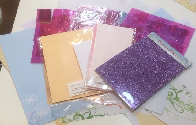 <b>ONE TIME ONLY</B> Spring Paper and Stamp Set