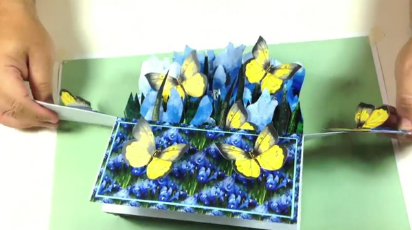 Oblong Folding Box Card Iris Project - 6 Sizes
