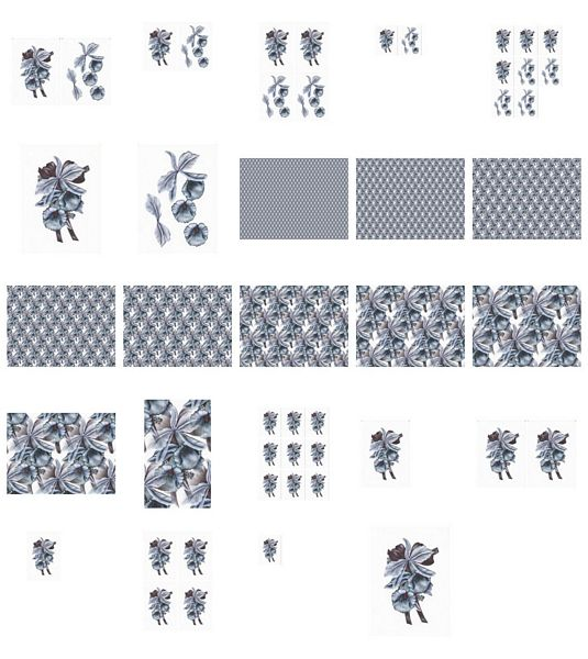 Pale Blue Orchid Set Download - 24 Pages