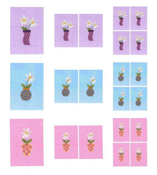 Stitched Effect Daisy Pot Full set Toppers - 9 Pages to DOWNLOAD