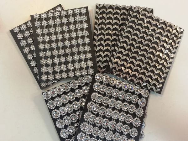 <b>LIMITED STOCK SPECIAL PURCHASE MIXED SET </B> 12 Metres of Diamante Effect Trim