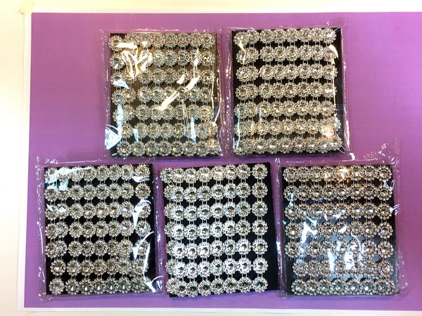 <B>BACK IN STOCK - SPECIAL PURCHASE Set 3</B> 10 Metres of Diamante Effect Trim