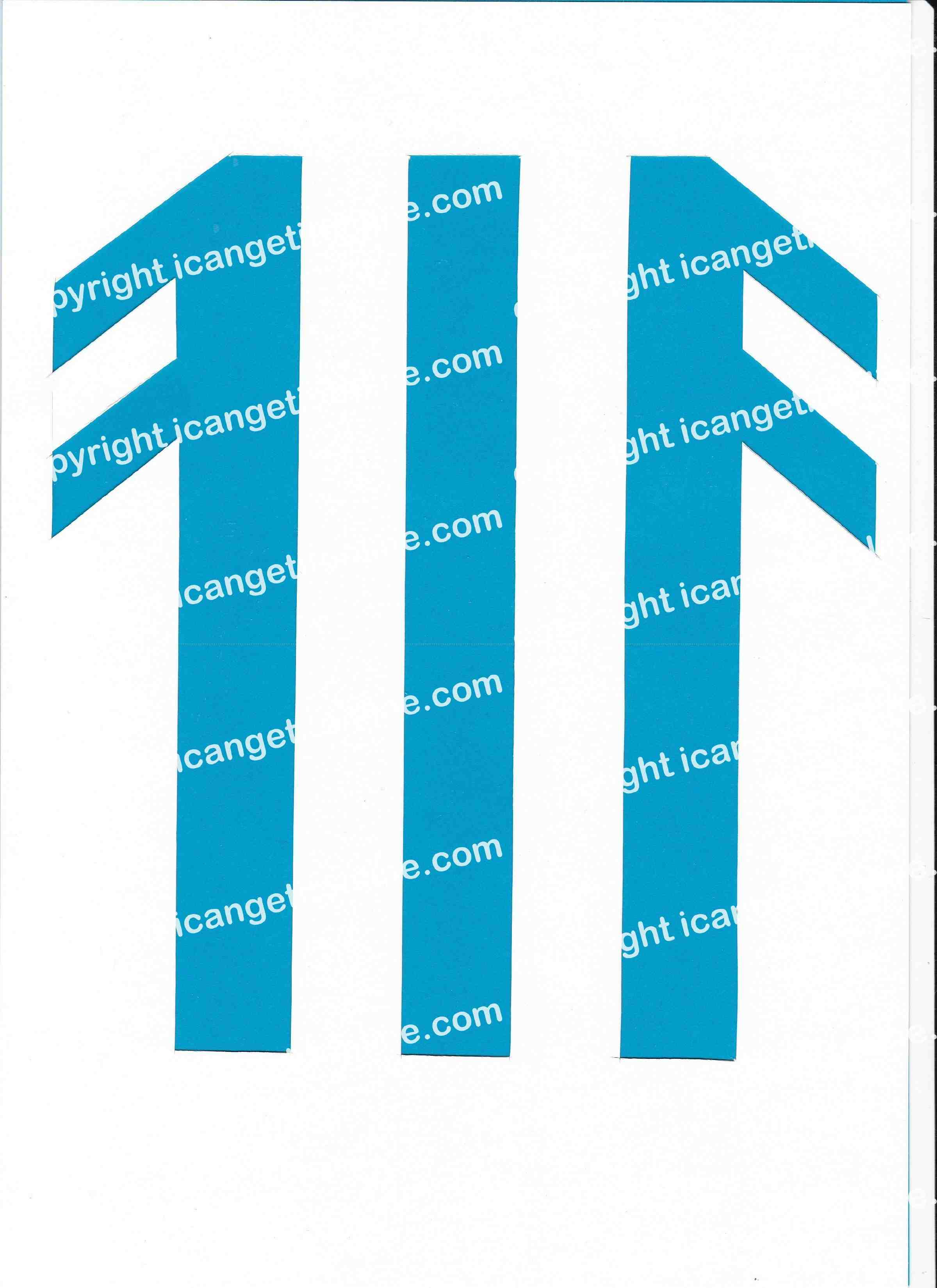 Football Set - Blue and White Vertical Strip - <B>WATERMARK NOT ON PURCHASED SET</B> 300 Pages to Download