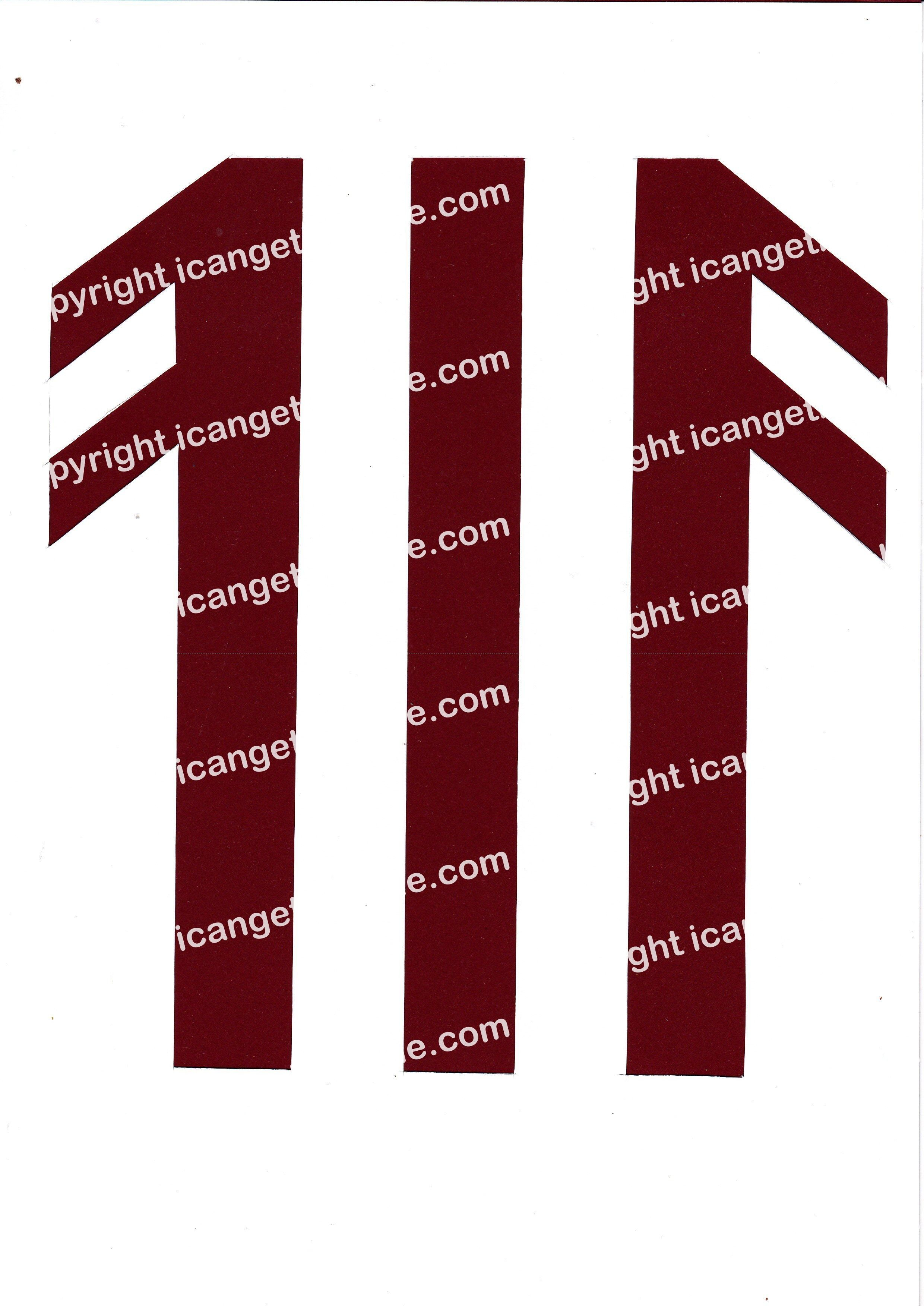 Football Set - Burgundy and White Vertical Strip - <B>WATERMARK NOT ON PURCHASED SET</B> 300 Pages to Download
