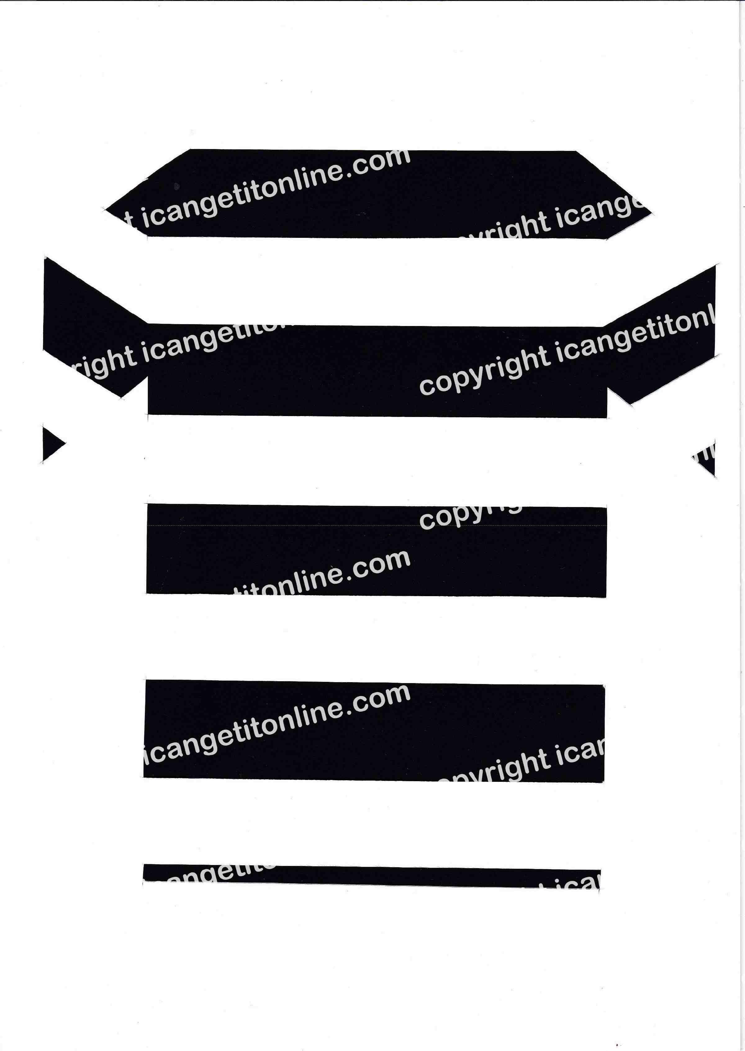 Football Set - Black and White Horizontal Strip - <B>WATERMARK NOT ON PURCHASED SET</B> 300 Pages to Download