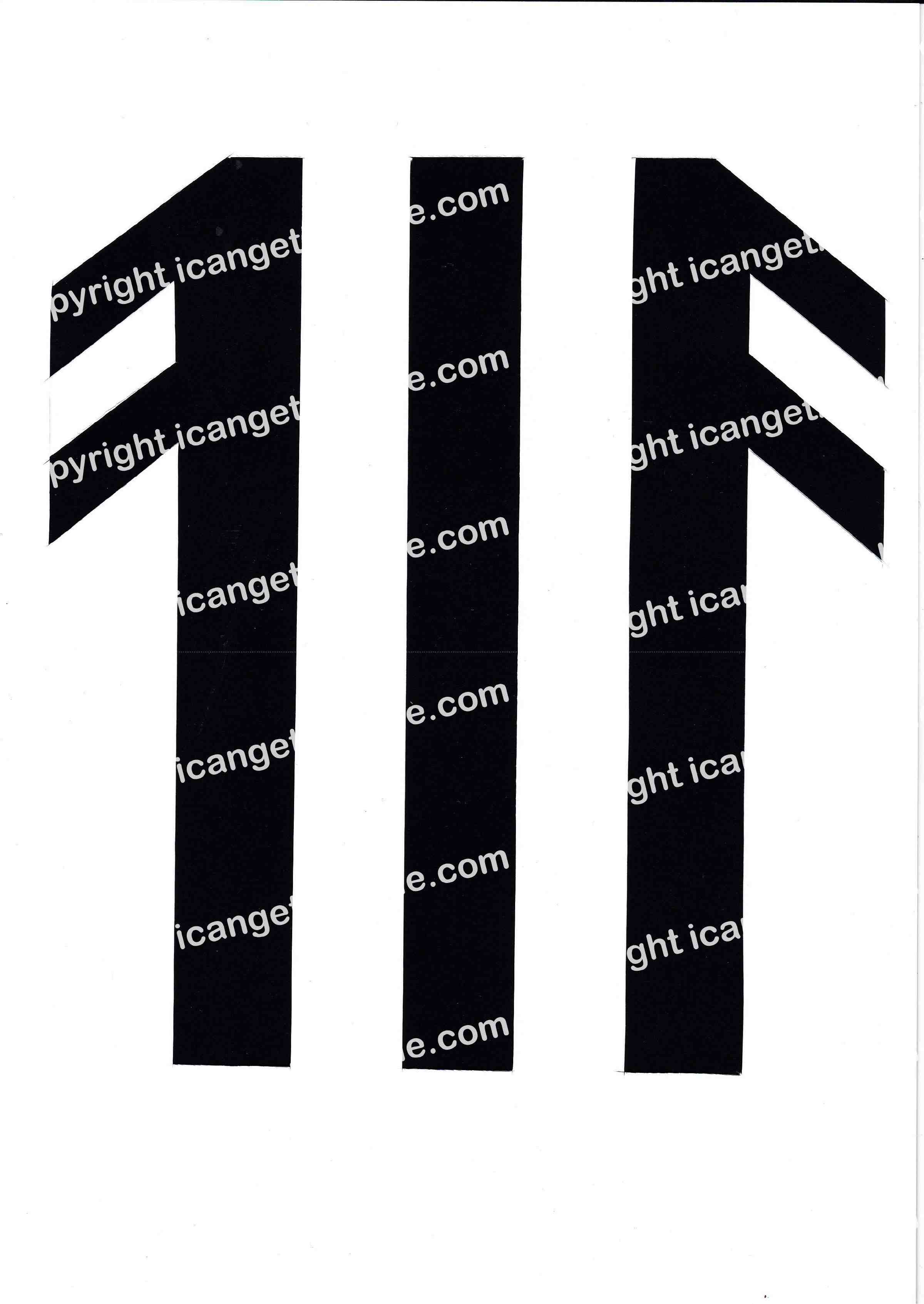 Football Set - Black and White Vertical Strip - <B>WATERMARK NOT ON PURCHASED SET</B> 300 Pages to Download
