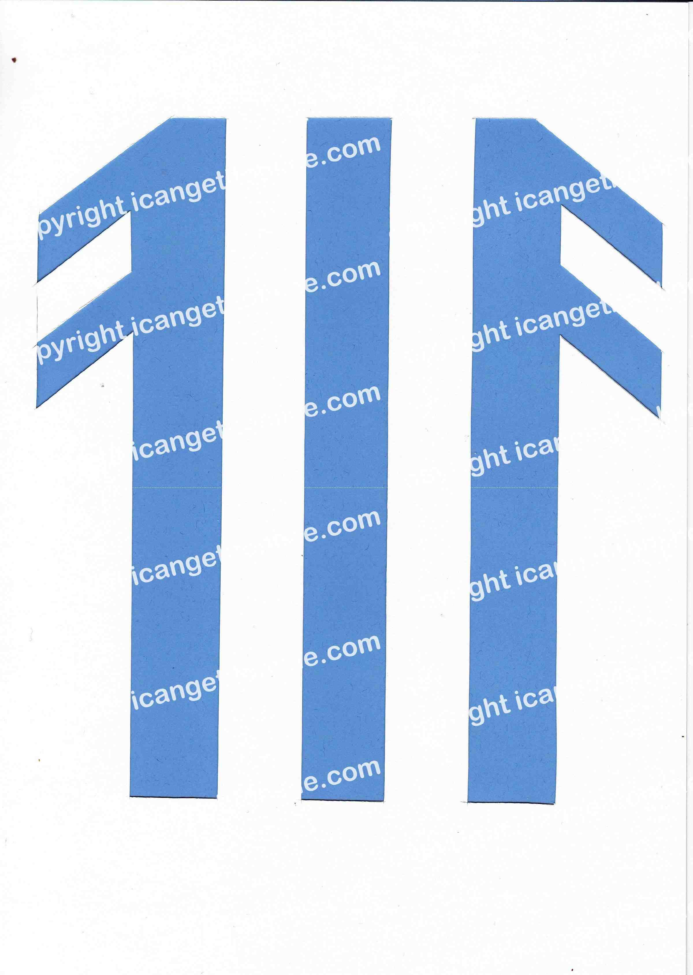 Football Set - Light Blue and White Vertical Strip - <B>WATERMARK NOT ON PURCHASED SET</B> 300 Pages to Download