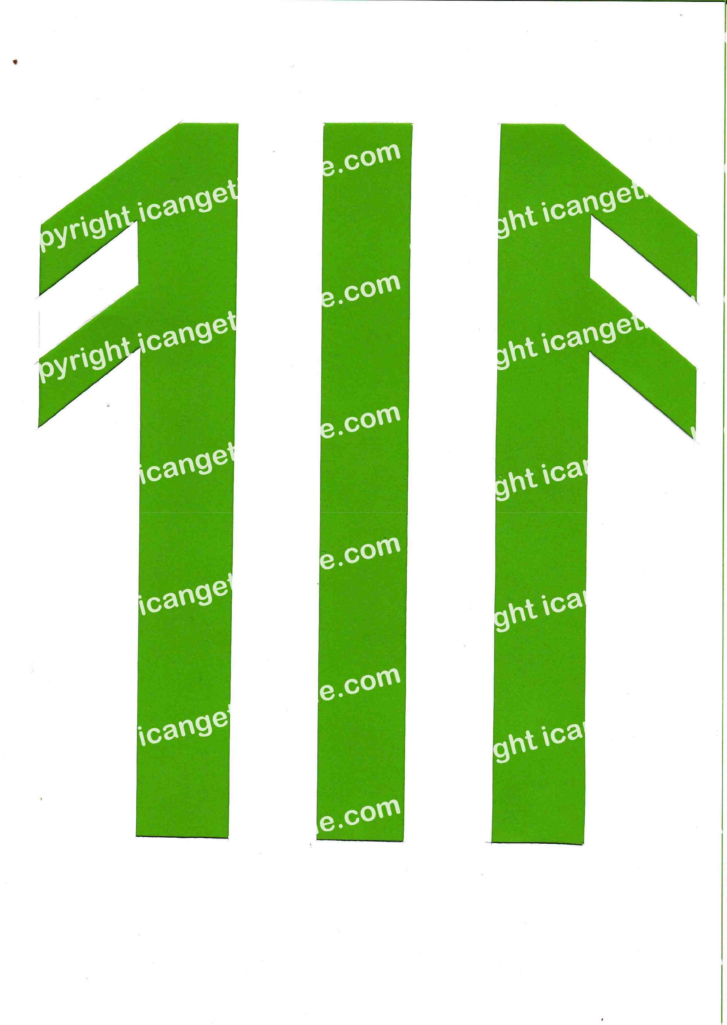 Football Set - Light Green and White Vertical Strip - <B>WATERMARK NOT ON PURCHASED SET</B> 300 Pages to Download