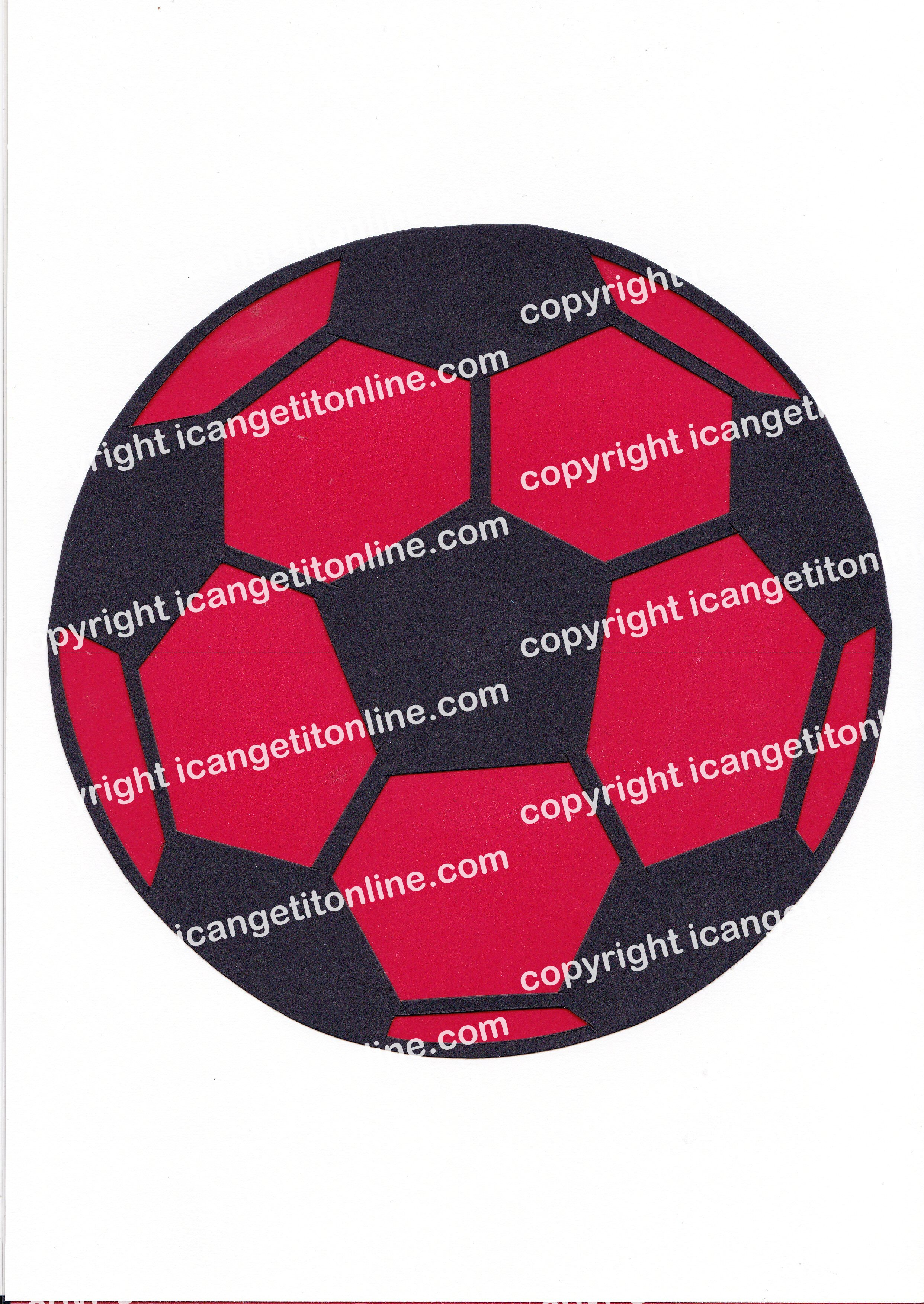 Football Set - Red Strip - <B>WATERMARK NOT ON PURCHASED SET</B> 300 Pages to Download