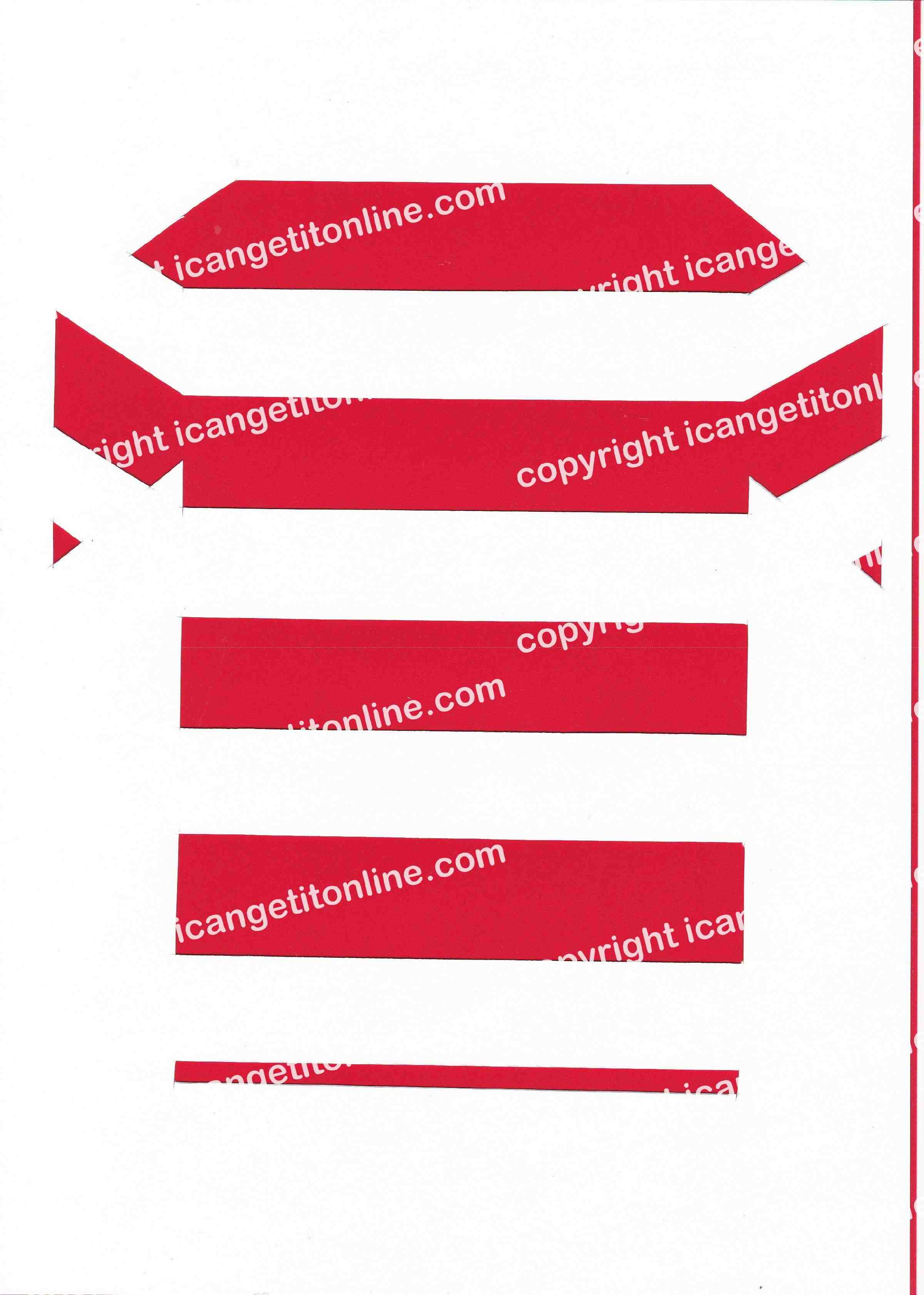 Football Set - Red and White Horizontal Strip - <B>WATERMARK NOT ON PURCHASED SET</B> 300 Pages to Download