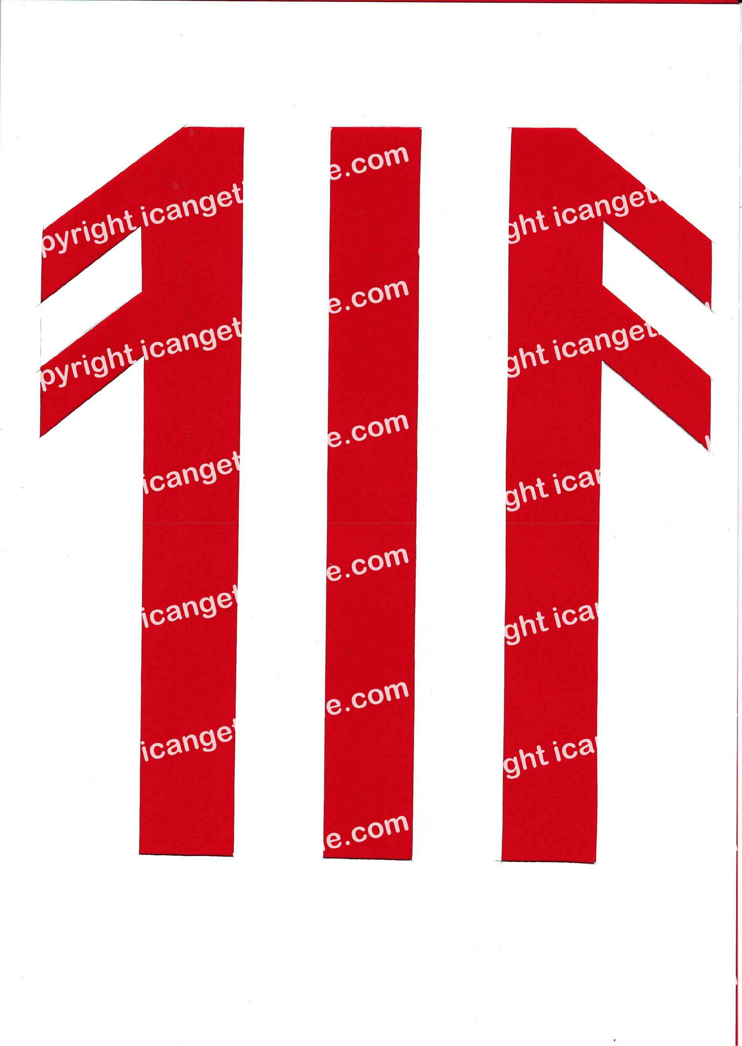 Football Set - Red and White Vertical Strip - <B>WATERMARK NOT ON PURCHASED SET</B> 300 Pages to Download