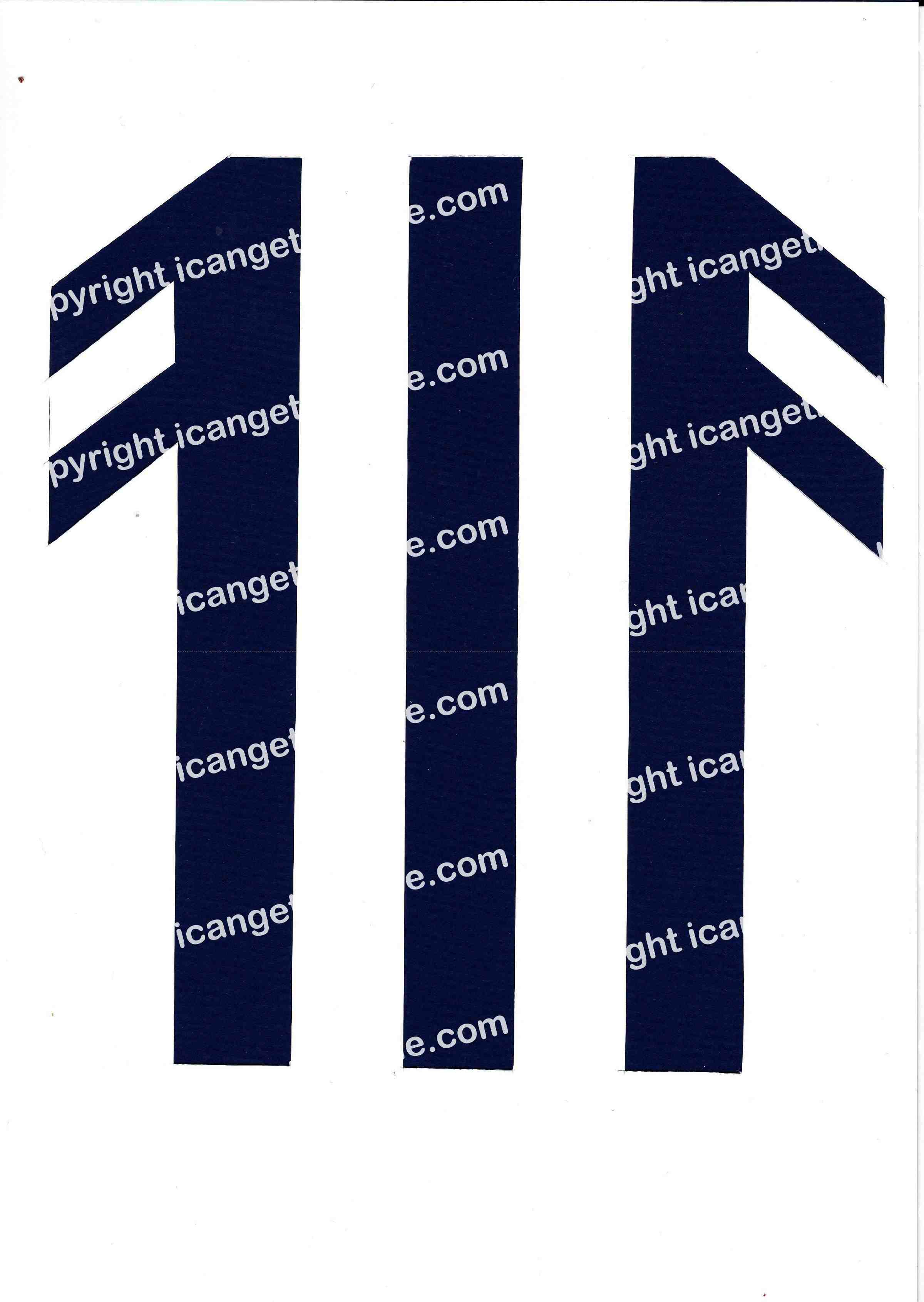 Football Set - Royal Blue and White Vertical Strip - <B>WATERMARK NOT ON PURCHASED SET</B> 300 Pages to Download