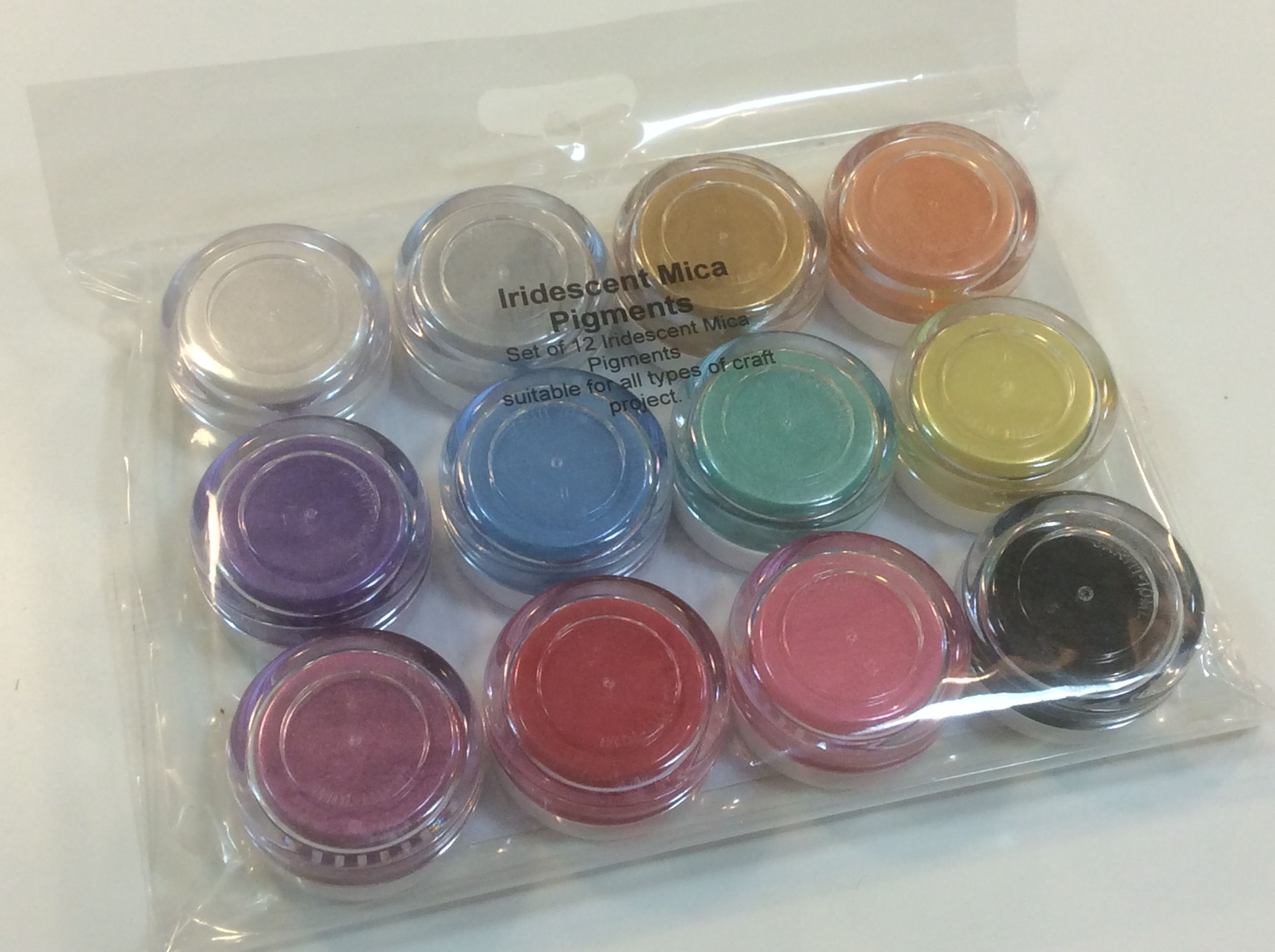 <b>SOLD OUT</B> 12 Iridescent Mica Pigments