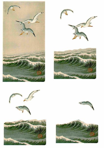 Oriental Flight Set 14 Decoupage - 1 x A4 Page to DOWNLOAD