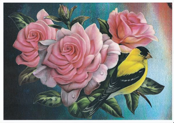 Goldfinch & Rose Set - 48 x Sheets to Download