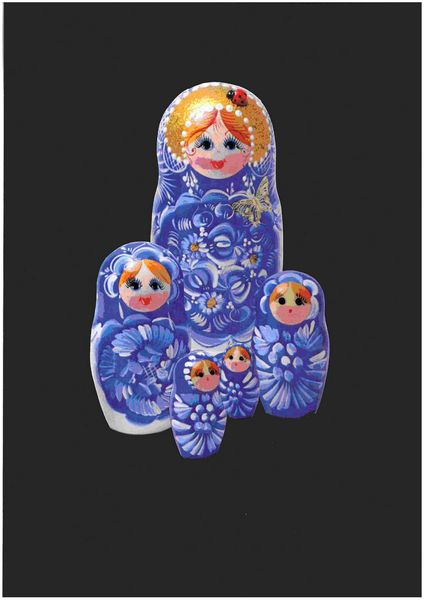 Russian Nesting Dolls Set 03 - 37 Pages to DOWNLOAD