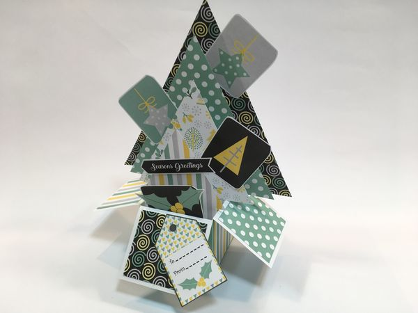 Set 10 - Stunning Templates - <b>Folding Box Christmas Tree Template Set</b> 6 Sizes to Download