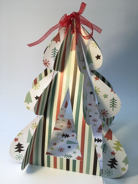 Set 05 - Stunning Templates - <b>Folding Standing Christmas Tree Template Set</b> 6 Sizes to Download