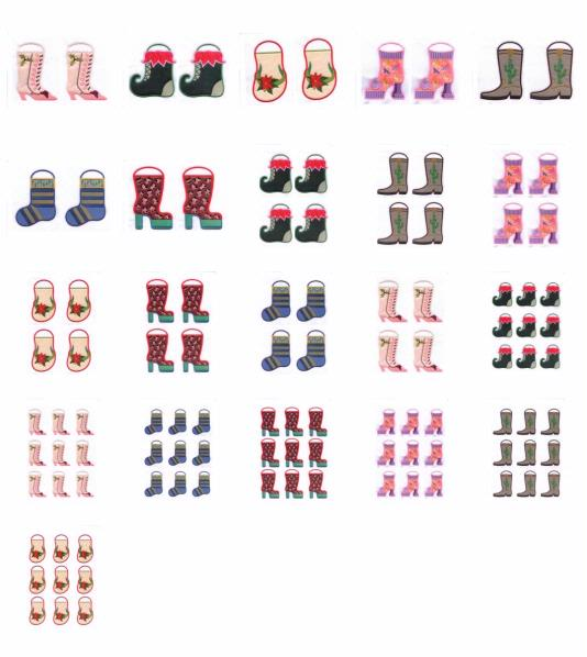 Christmas Boots Set - 21 Pages to Download