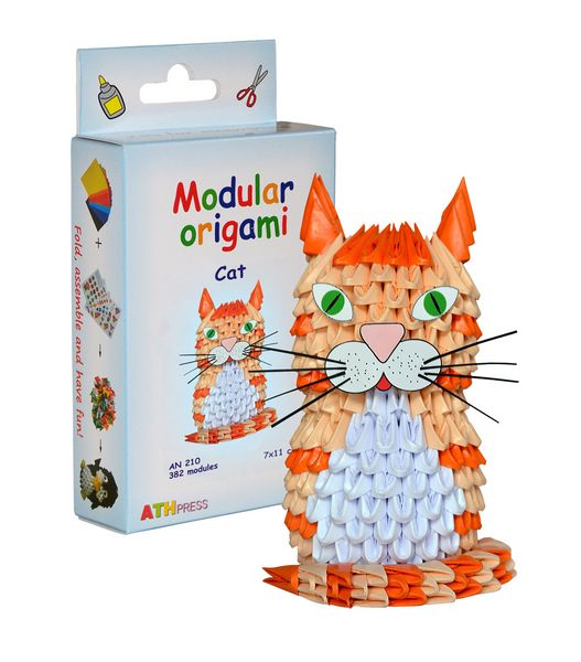 Modular Origami Kits - Bee, Mouse and Cat