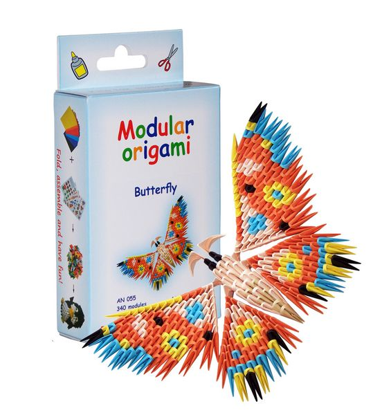 Modular Origami Kits - Peacock, Butterfly and Dragonfly