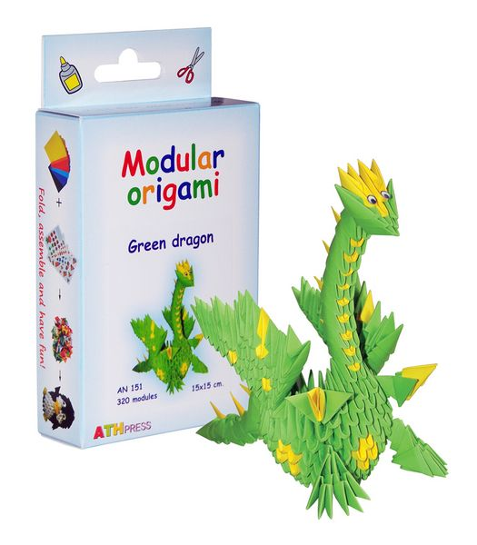 Modular Origami Kits - Spider, Red Dragon and Green Dragon