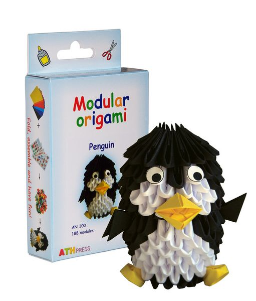 Modular Origami Kits - Christmas Tree, Penguin and Toy