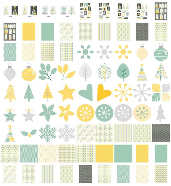 Set 06 Stunning Christmas Creations - <b>Funky Christmas Trees and Stars</b> - 81 Pages to Download