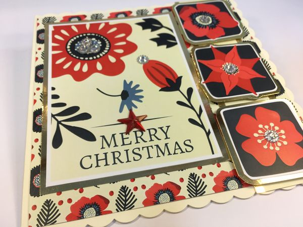Set 07 Stunning Christmas Creations - <b>Christmas Retro Florals</b> - 83 Pages to Download