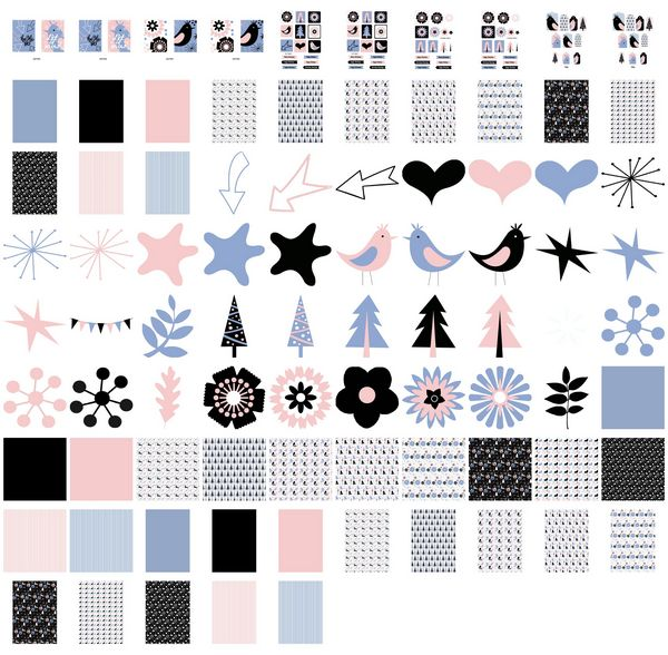 Set 09 Stunning Christmas Creations - <b>Christmas Birds</b> - 85 Pages to Download