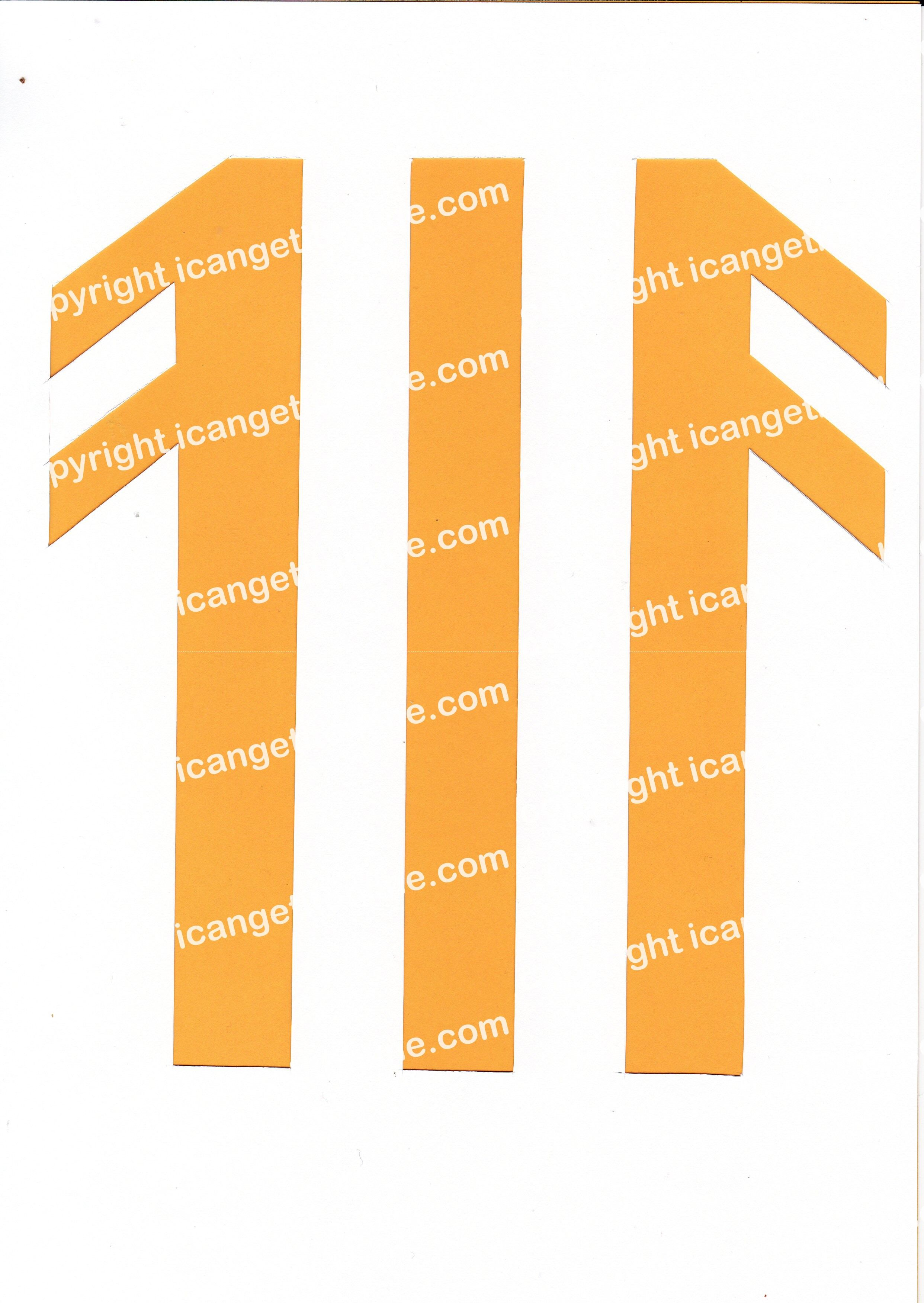 Football Set - Yellow and White Vertical Strip - <B>WATERMARK NOT ON PURCHASED SET</B> 300 Pages to Download