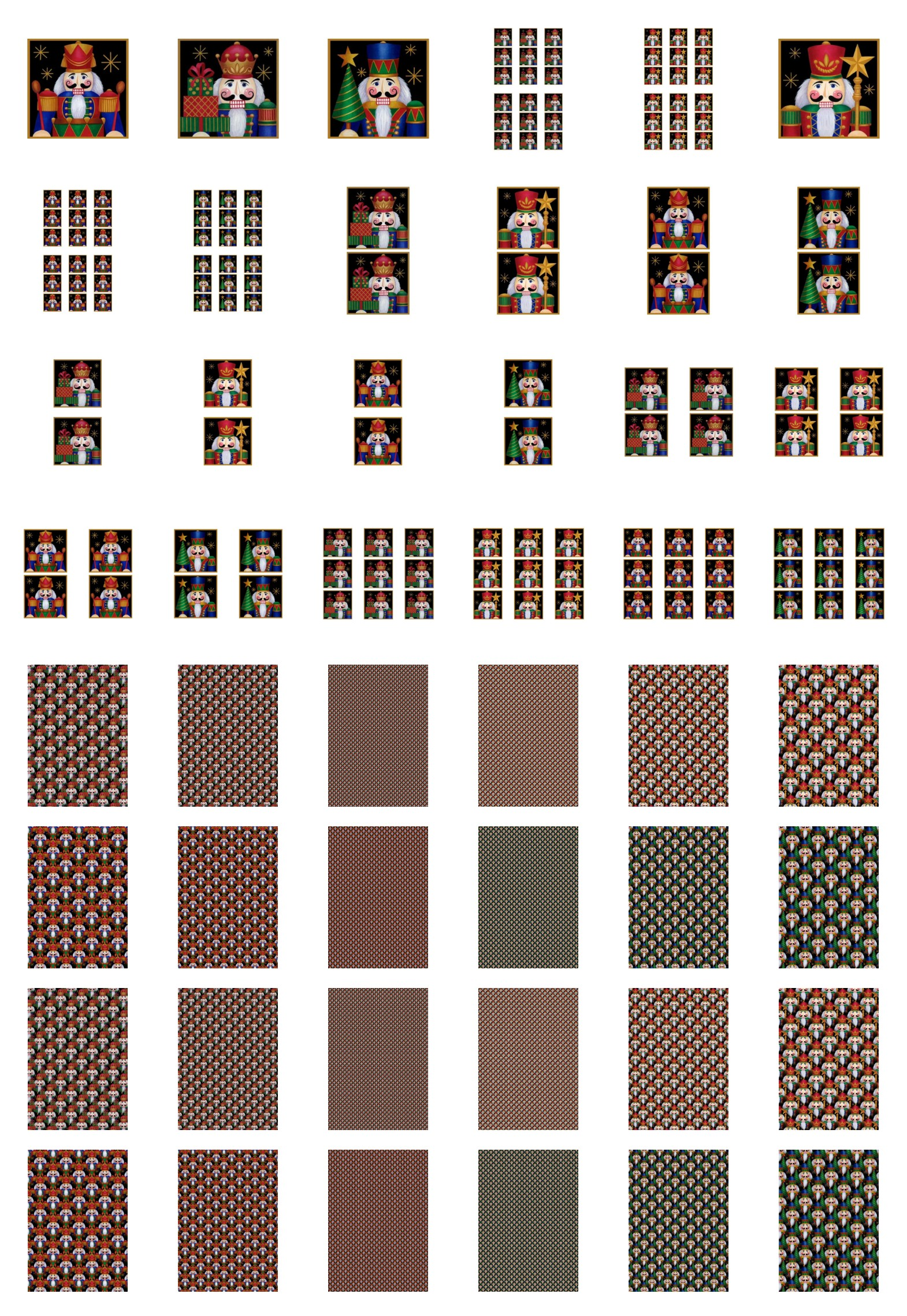 Square Christmas Soldiers Set - 48 Pages to Download