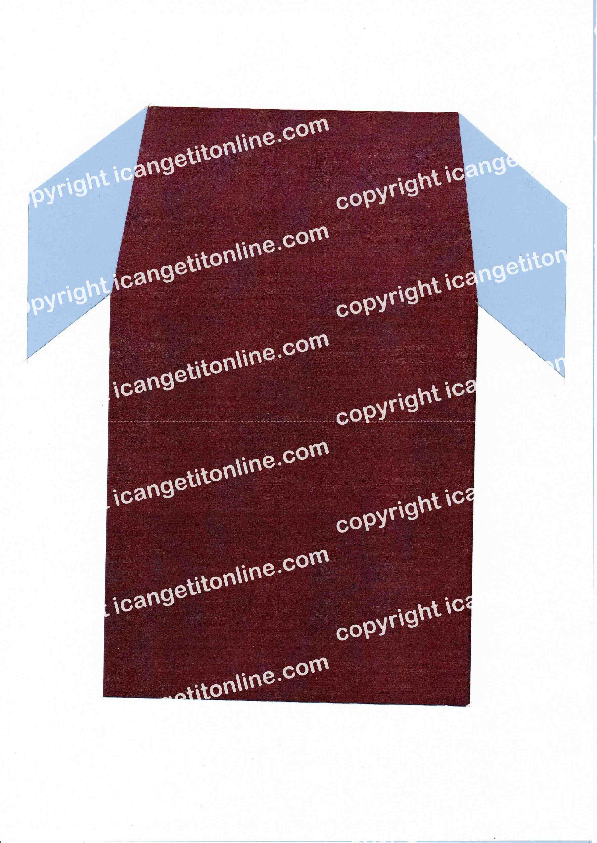 Football Set - Light Blue and Burgundy Strip - <B>WATERMARK NOT ON PURCHASED SET</B> 300 Pages to Download