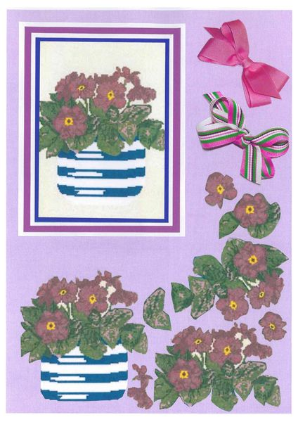 Potted Flowers Decoupage Sheet Set 2 A5 - 1 x A4 Page to DOWNLOAD