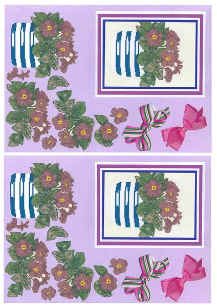 Potted Flowers Decoupage Sheet Set 2 A6 - 1 x A4 Page to DOWNLOAD