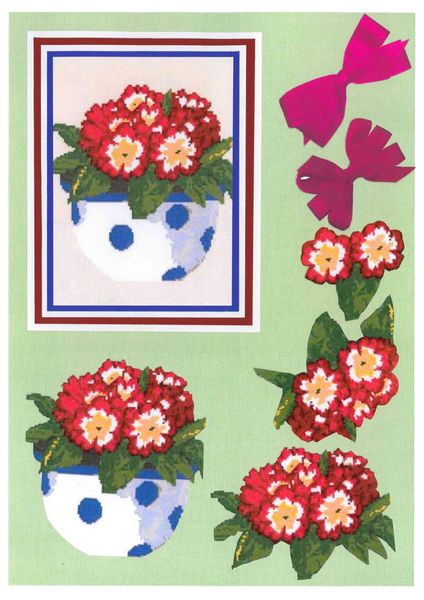 Potted Flowers Decoupage Sheet Set 3 A5 - 1 x A4 Page to DOWNLOAD