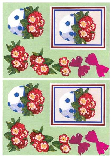 Potted Flowers Decoupage Sheet Set 3 A6 - 1 x A4 Page to DOWNLOAD